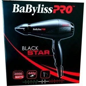 Secadora De Cabello Babyliss Pro Black Star