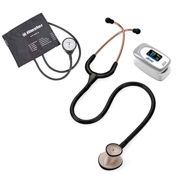 Kit Medico Littmann Lightweight, Tensiometro Riester Y Oximetro Drive