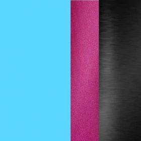 Turquoise Tube w/ Smoke-Finish Chest Piece/Pink Stem/Smoke Headset